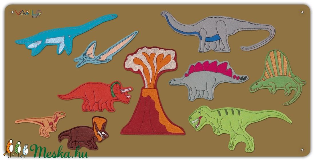 Dinoszaurusz  kollekció - 10 db mágneses játék + fémtábla - Meska.hu