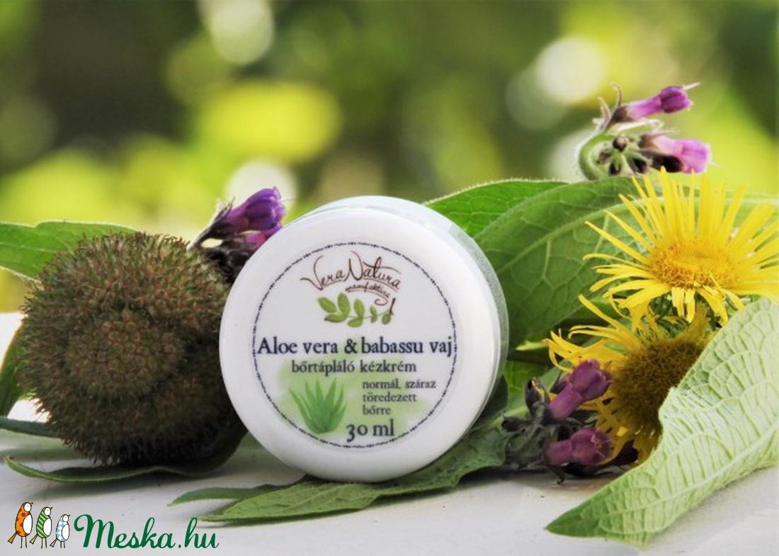 Aloe vera és babassu vaj bőrtápláló kézkrém (VeraNatura) - Meska.hu