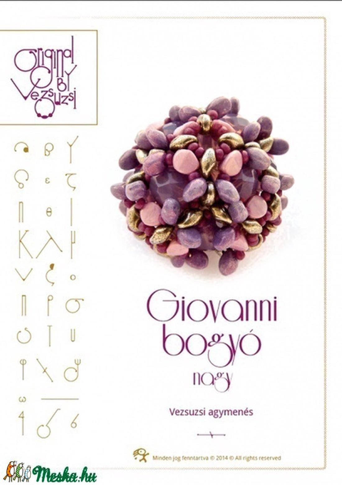 Giovanni nagybogyó... minta egyéni felhasználásra (vezsuzsiminta) - Meska.hu