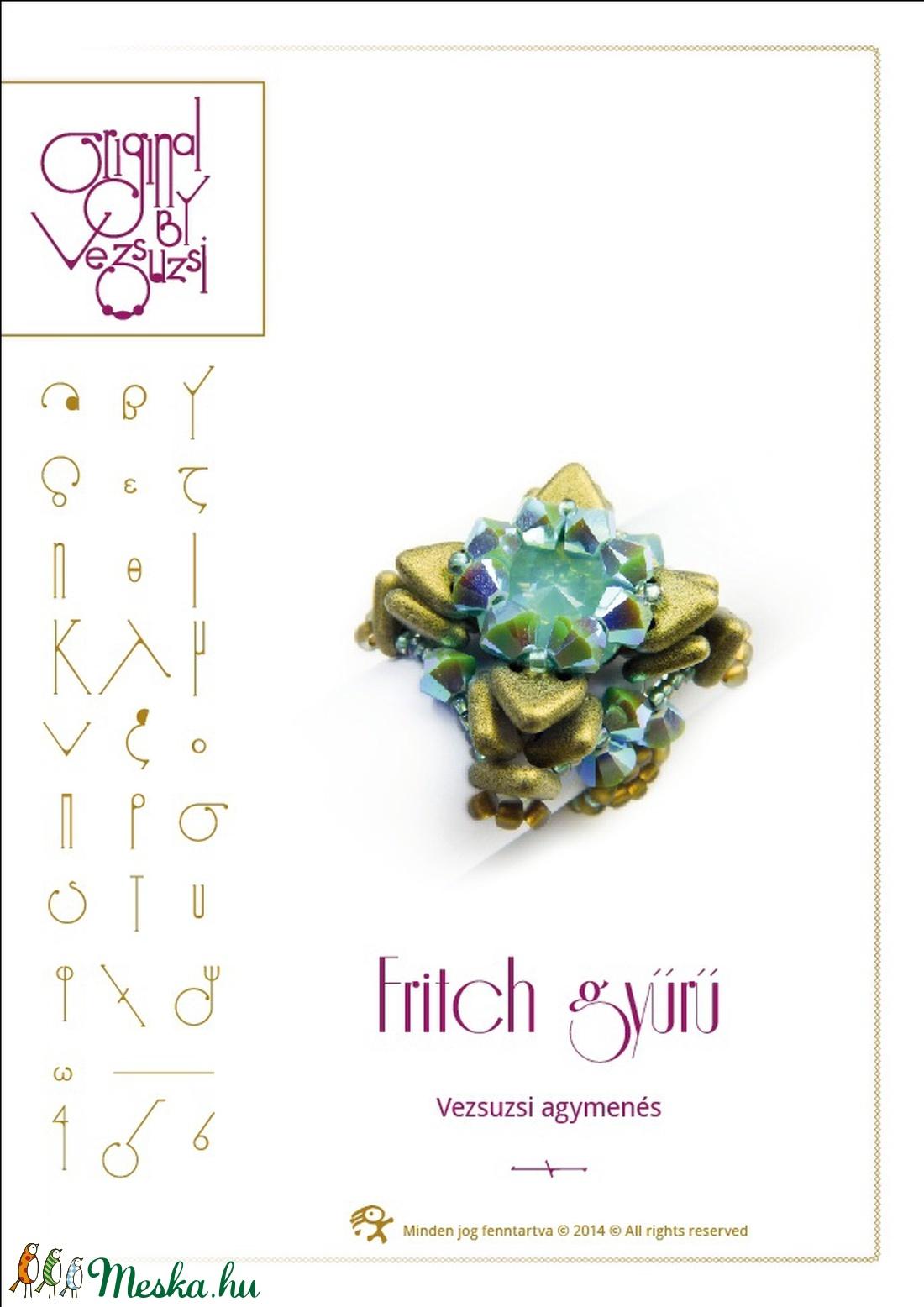 Fritch gyűrű... minta egyéni felhasználásra (vezsuzsiminta) - Meska.hu
