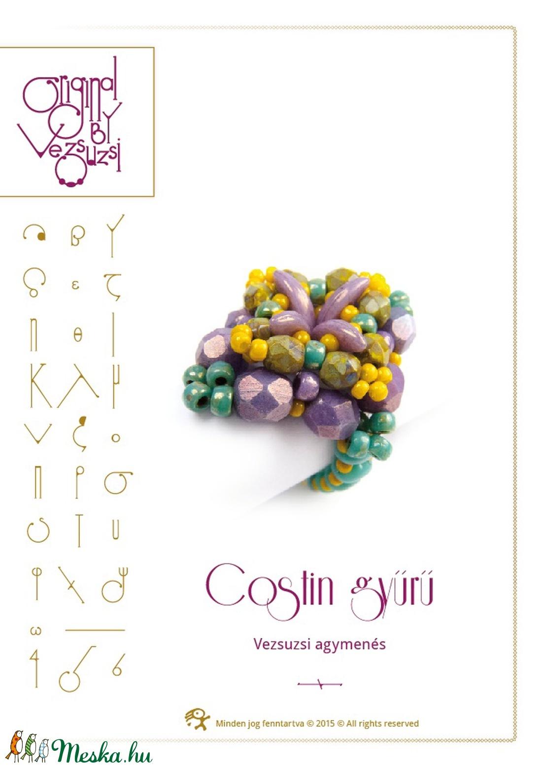 Costin... gyűrű minta egyéni felhasználásra (vezsuzsiminta) - Meska.hu