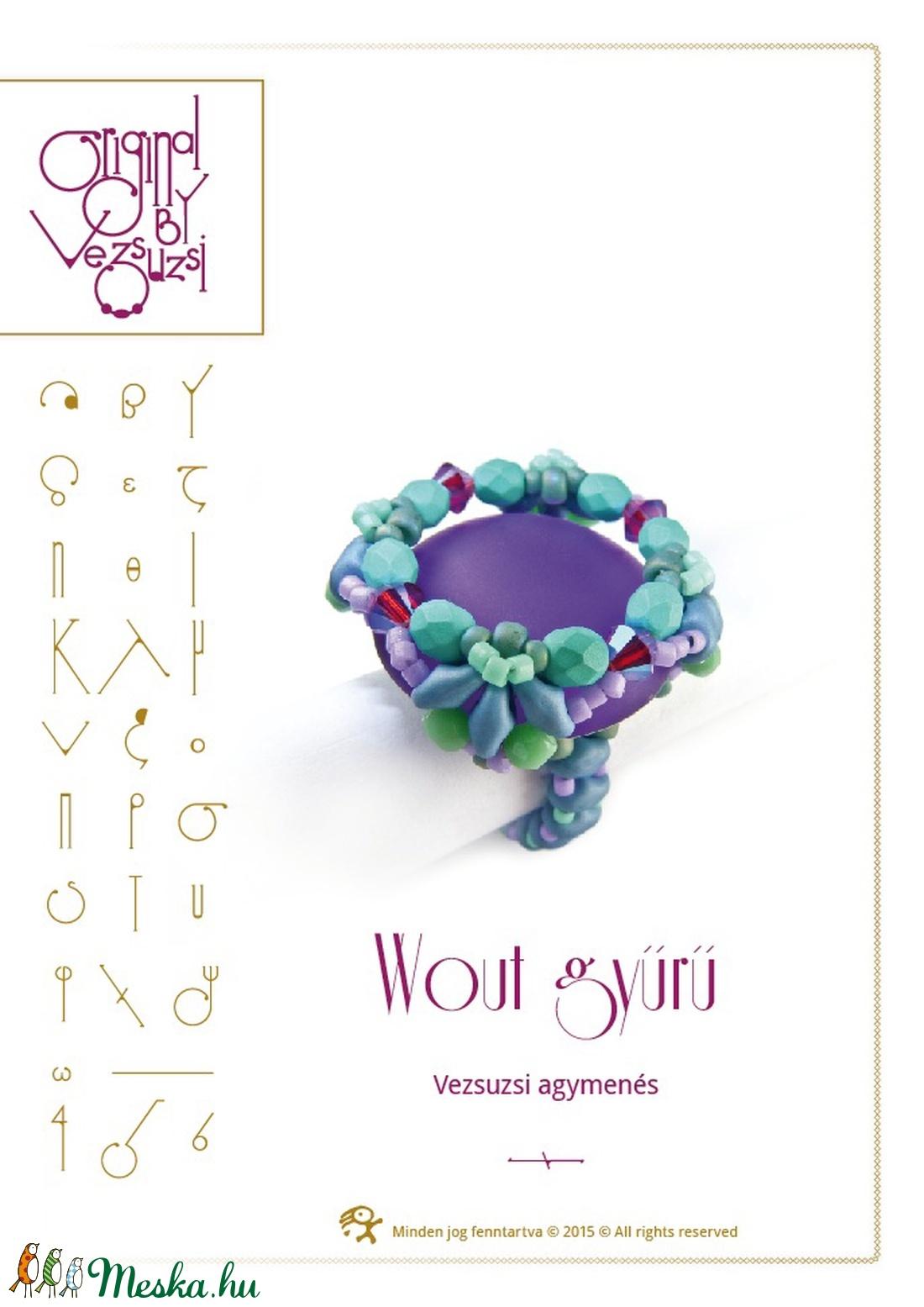 Wout gyűrű... minta egyéni felhasználásra (vezsuzsiminta) - Meska.hu