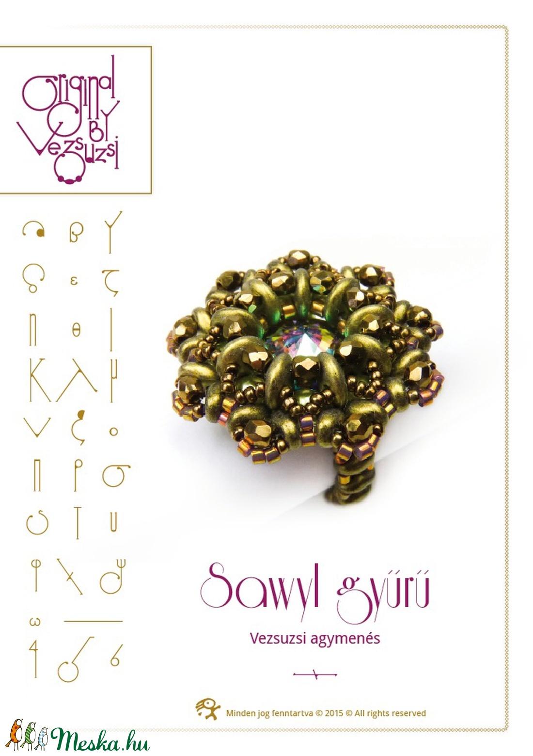 Sawyl... gyűrű minta egyéni felhasználásra (vezsuzsiminta) - Meska.hu