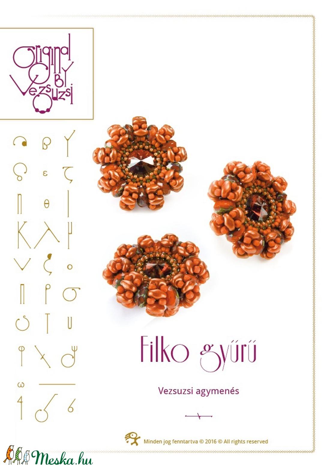 Filko gyűrű minta egyéni felhasználásra (vezsuzsiminta) - Meska.hu