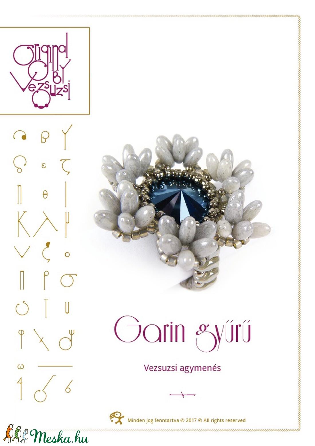 Garin gyűrű minta egyéni felhasználásra (vezsuzsiminta) - Meska.hu