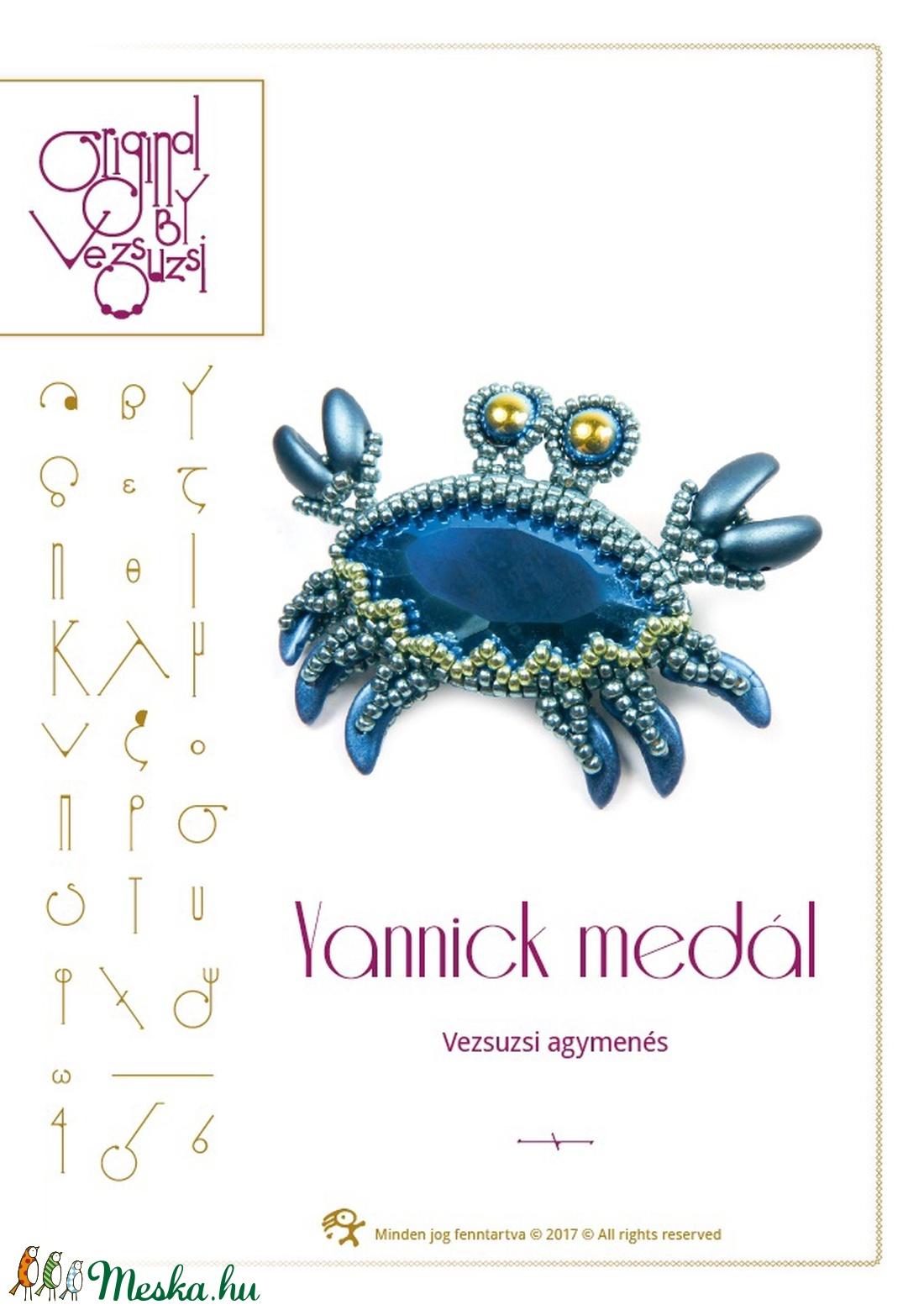 Yannick a rák... minta egyéni felhasználásra (vezsuzsiminta) - Meska.hu