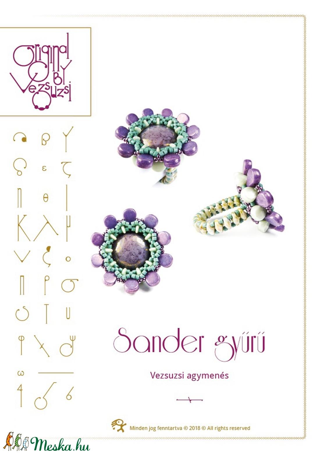 Sander gyűrű... minta egyéni felhasználásra (vezsuzsiminta) - Meska.hu