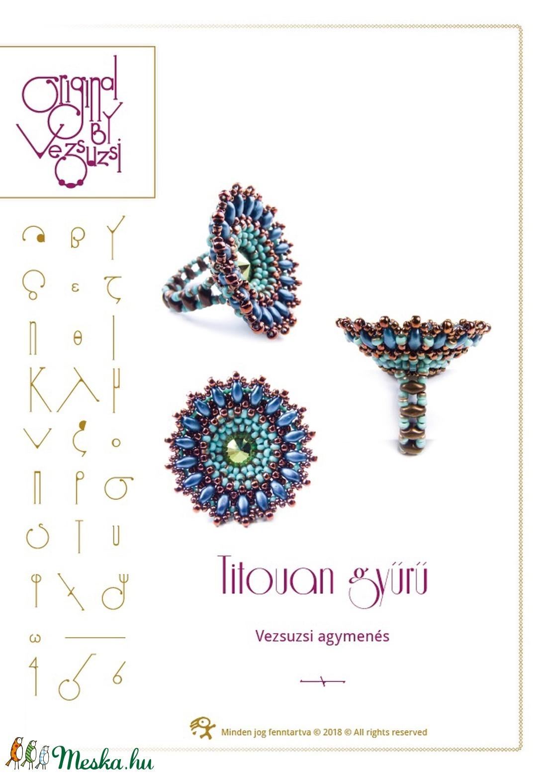 Titouan gyűrű... minta egyéni felhasználásra (vezsuzsiminta) - Meska.hu