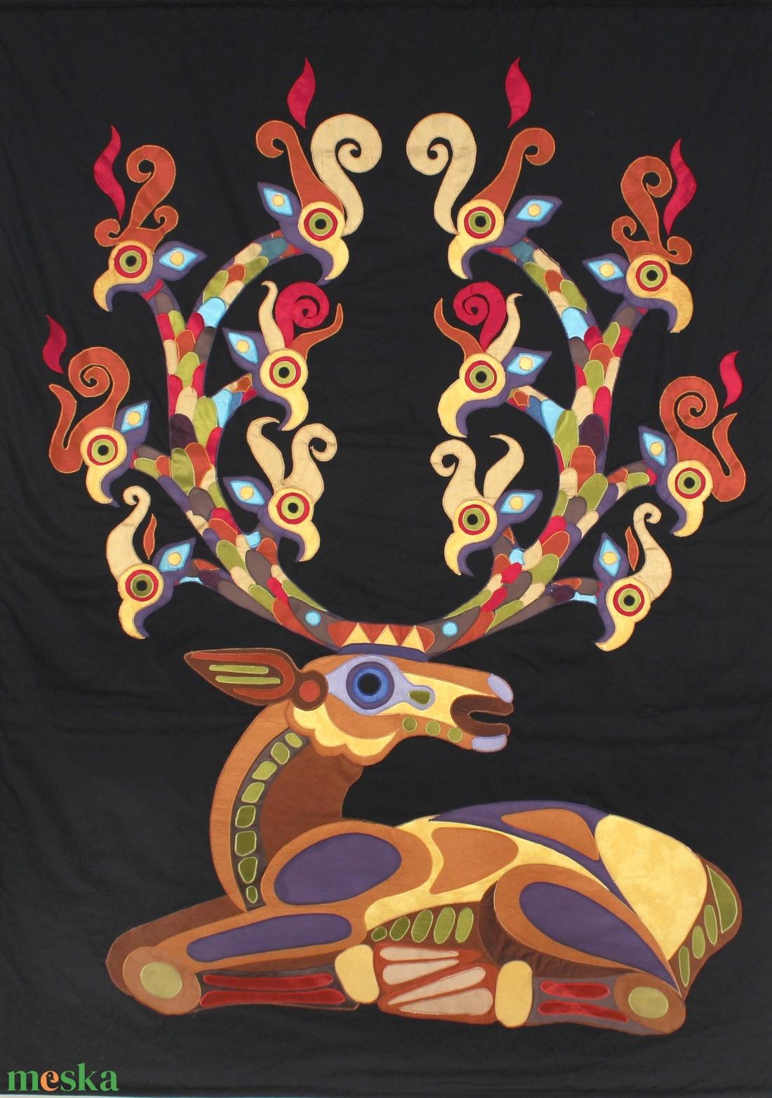 Csodaszarvas falitextil (vighilda) - Meska.hu