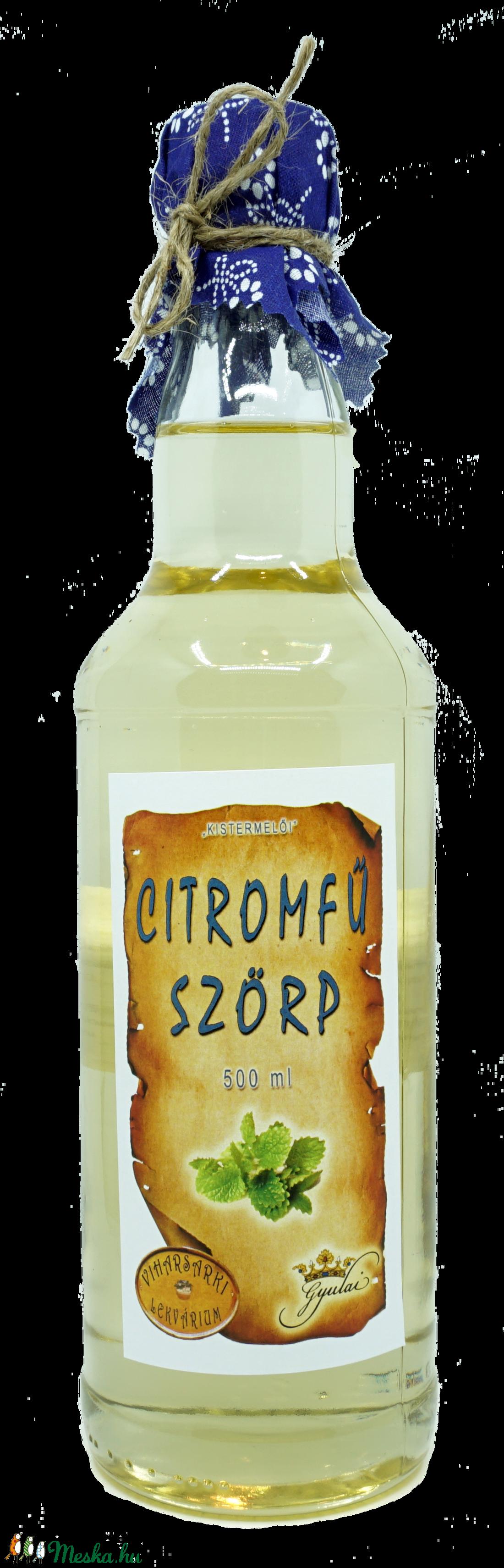 Citromfű szörp (500 ml) (viharsarkilekvariu) - Meska.hu