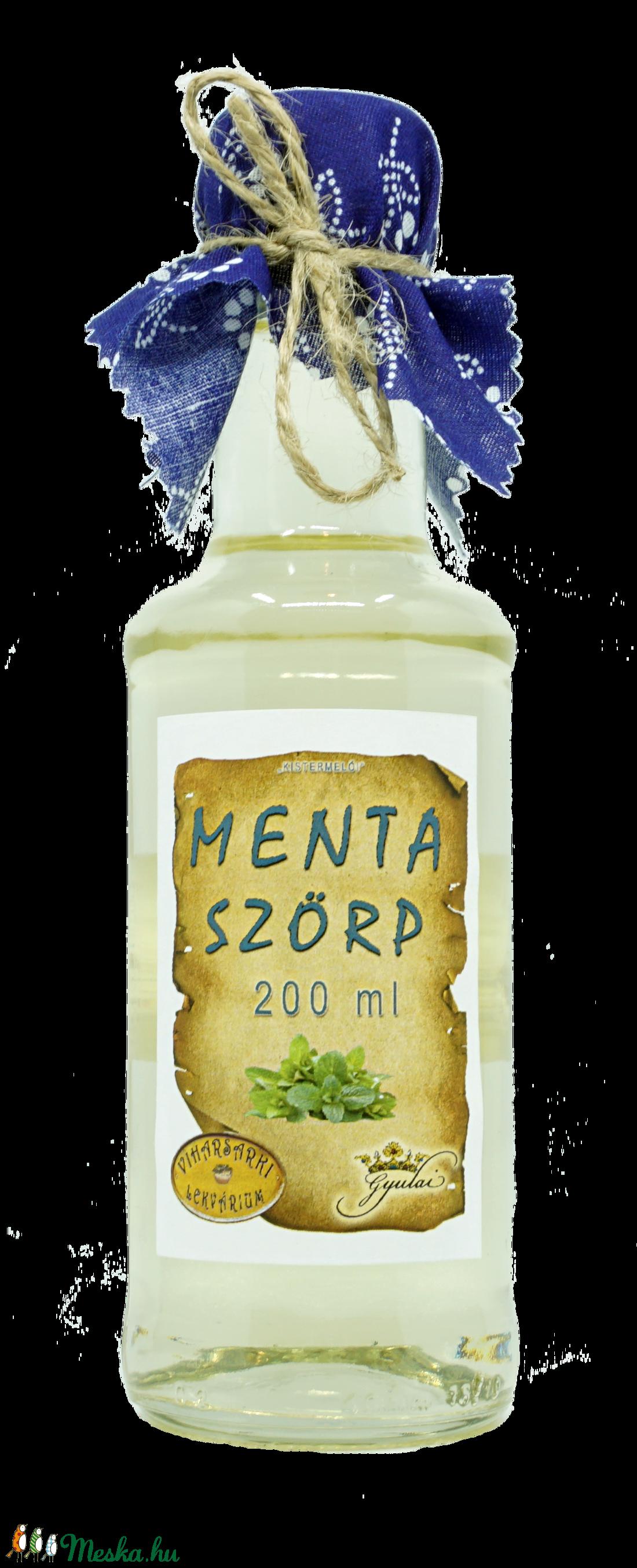 Menta szörp (200 ml) (viharsarkilekvariu) - Meska.hu