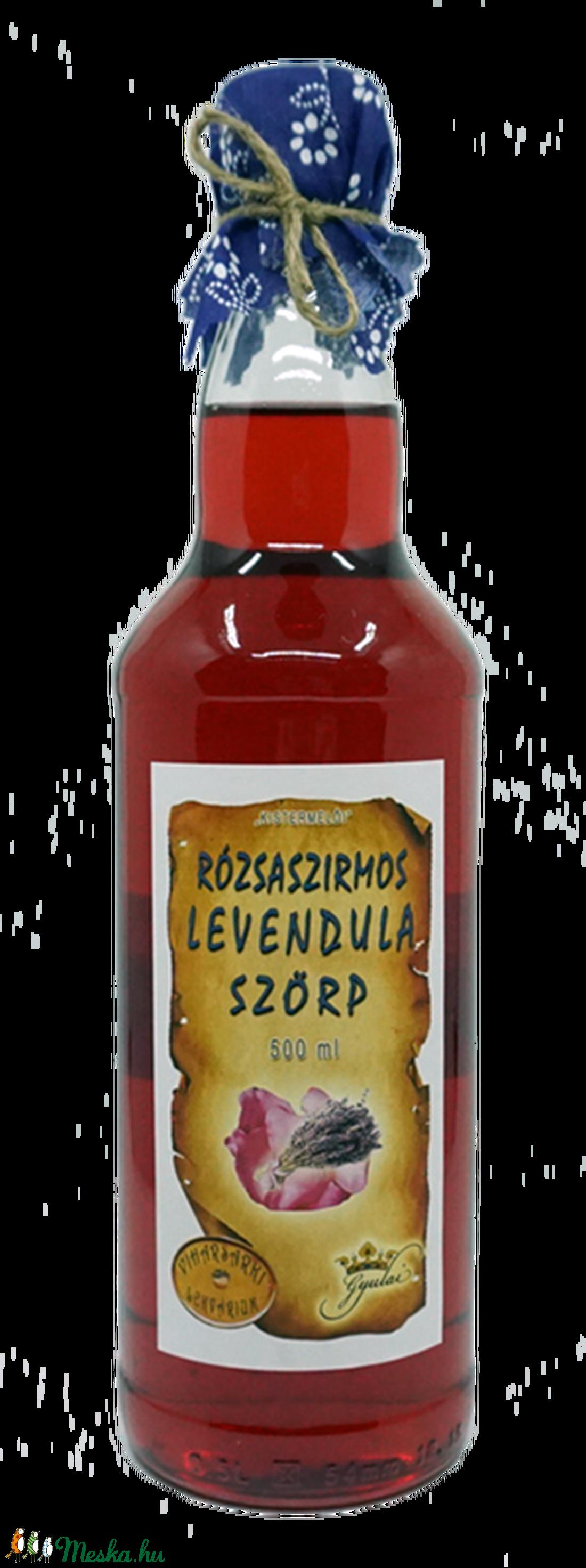 Rózsaszirmos levendulavirág szörp (500 ml) (viharsarkilekvariu) - Meska.hu