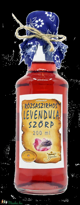 Rózsaszirmos levendulavirág szörp (200 ml) (viharsarkilekvariu) - Meska.hu