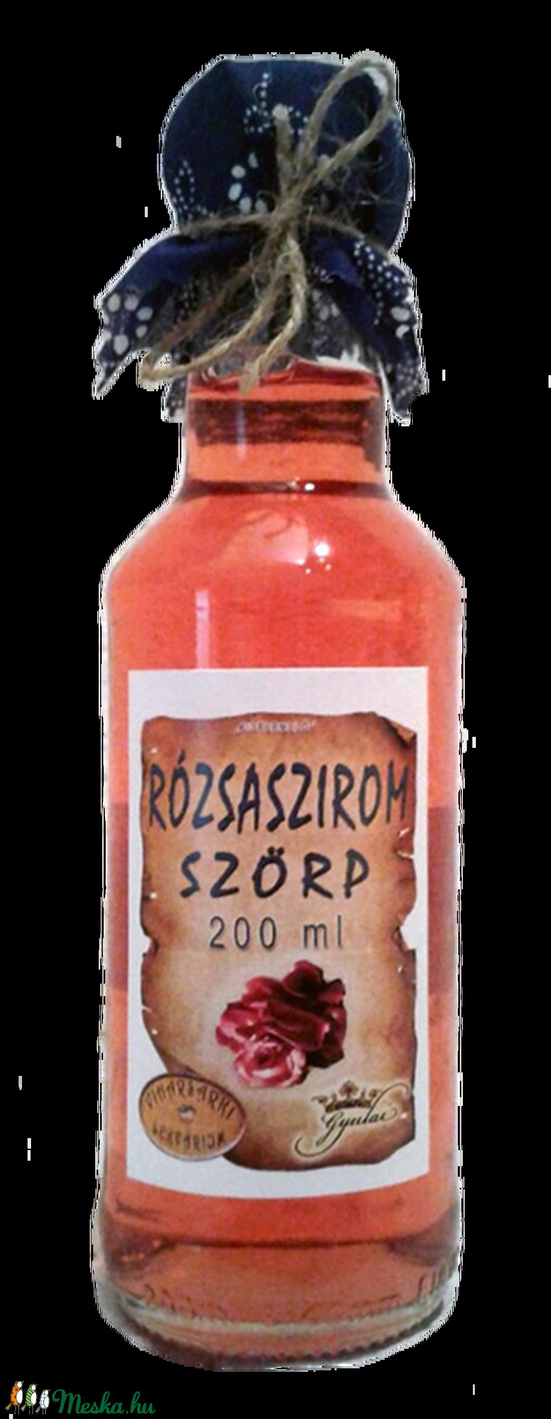 Rózsaszirom szörp (200 ml) (viharsarkilekvariu) - Meska.hu