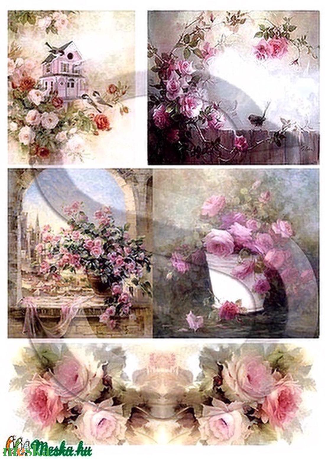 Akvarell sorozat: Rózsák - Meska.hu