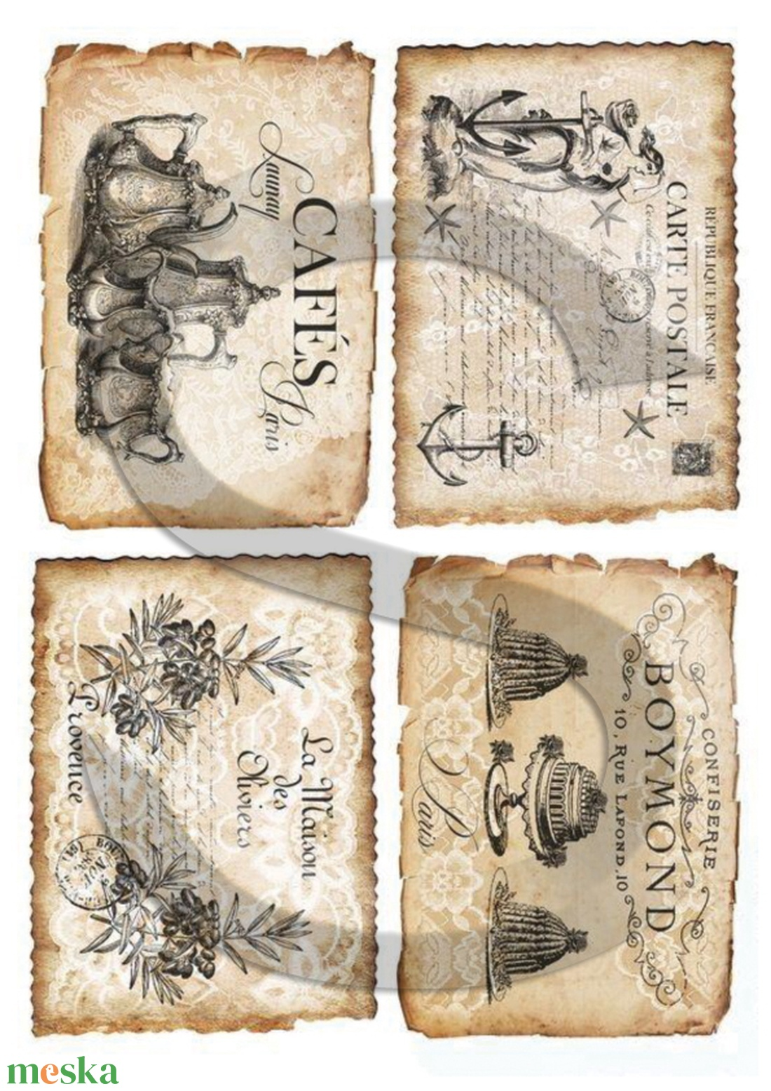Vintage címkék 6. - Meska.hu