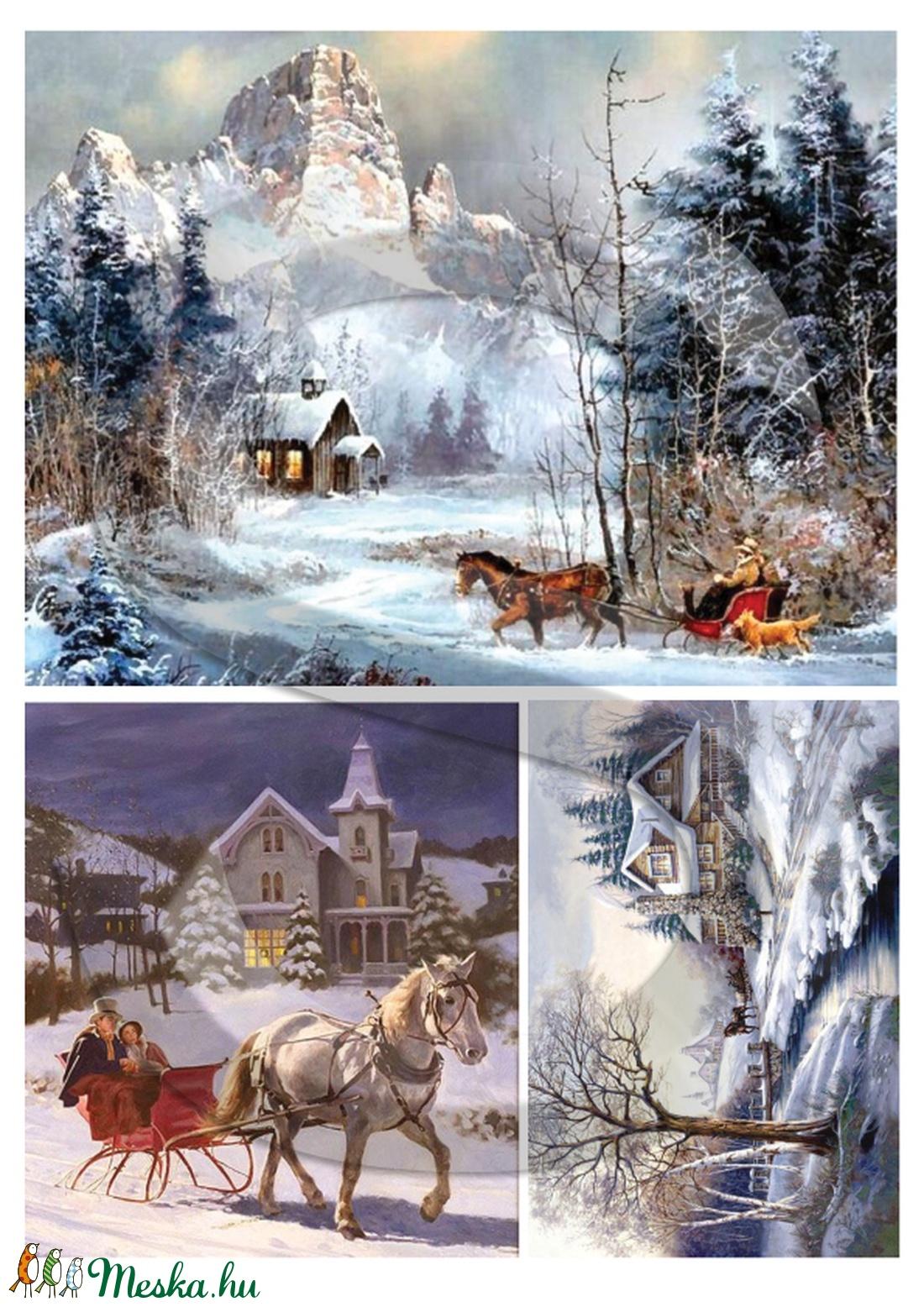Karácsonyi sorozat: Karácsonyi lovasszán (VintageEkszerekKicsinyBoltja) - Meska.hu