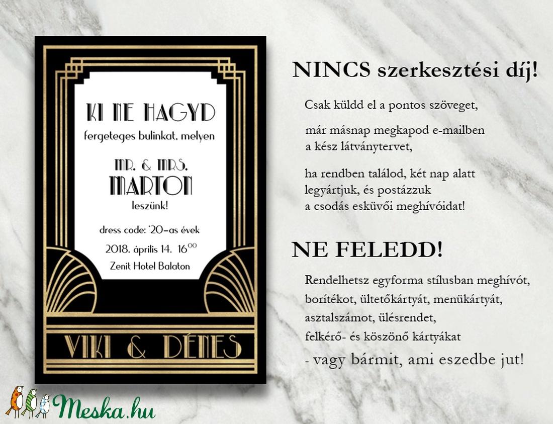 ... Esküvői meghívó különleges borítékban - Nagy Gatsby (viori) - Meska.hu 6a762ee414