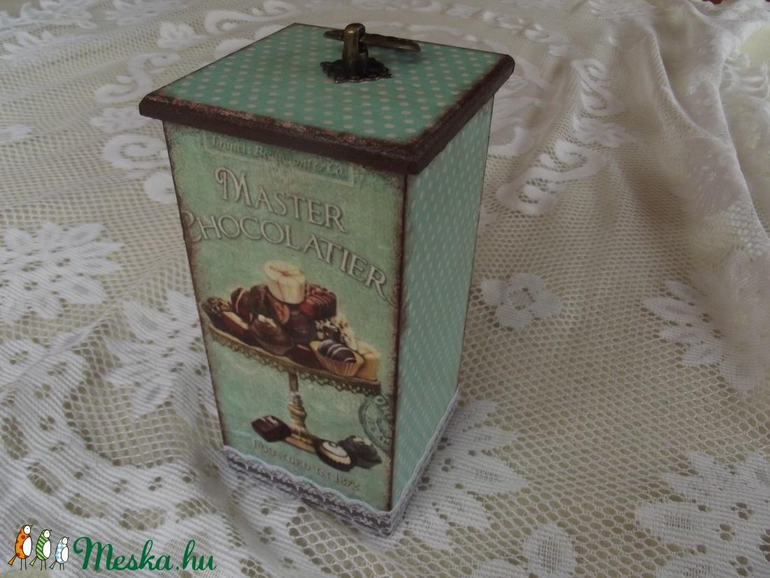 Vintage konyhai doboz tároló (vkbrigi86) - Meska.hu