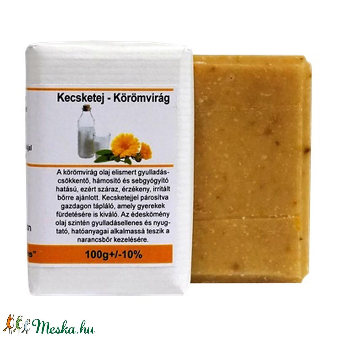 Kecsketej Körömvirág szappan - szépségápolás - szappan & fürdés - szappan - Meska.hu