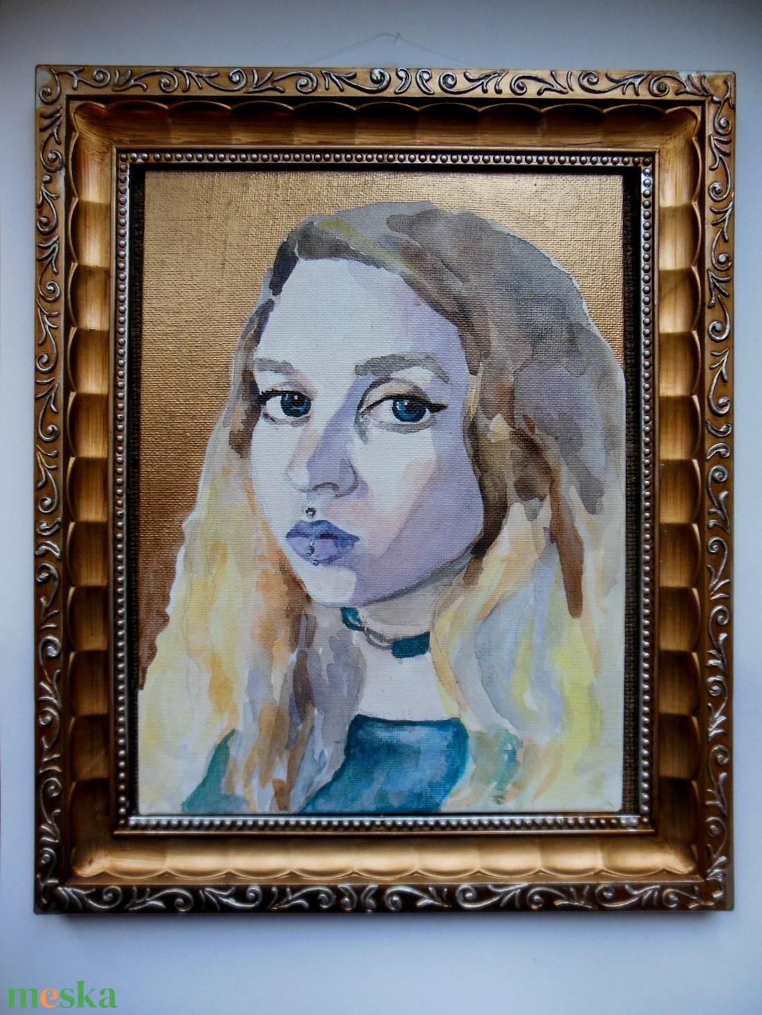 Portré festés (watercolorbyvera) - Meska.hu