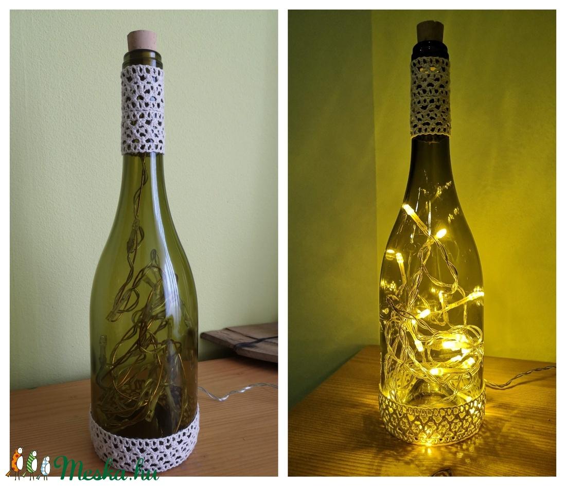 Borosüveg hangulatfény (WineCellarToHome) - Meska.hu