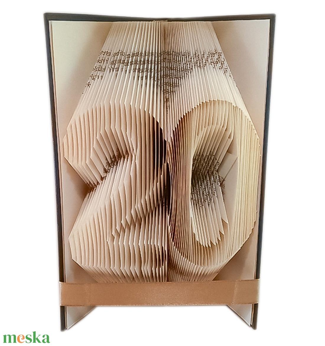 20 - Egyedi számos hajtogatott könyv origami - huszadik születésnapra - évfordulóra - két szám - könyvszobor - E112 (Wolfabric) - Meska.hu