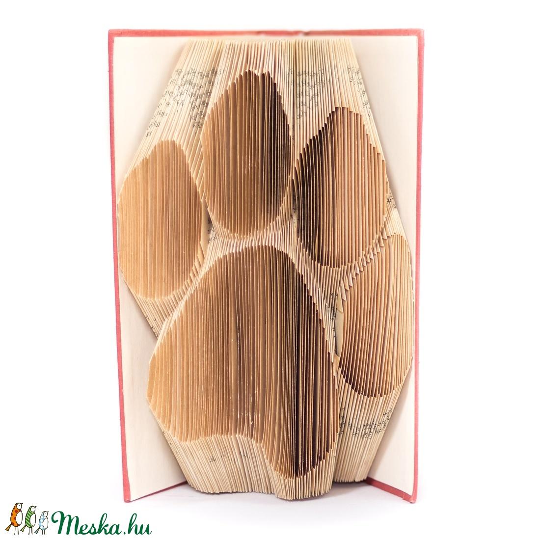 Tappancs mintájú hajtogatott könyv origami - kutya macska szeretőknek - állatbarátoknak - lábnyom (Wolfabric) - Meska.hu