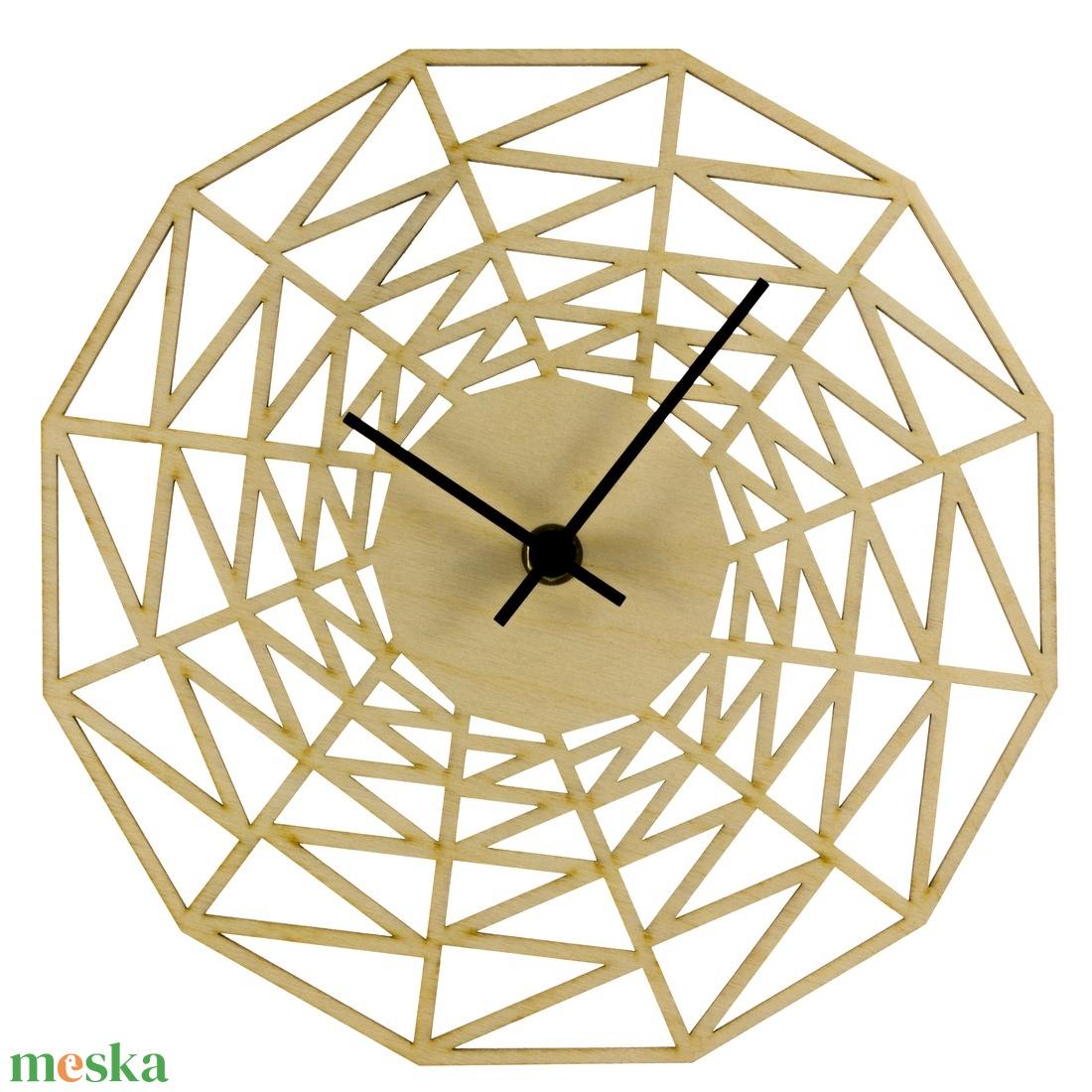 Pókháló óra - Játékos - Vicces - Férfiaknak - Modern - Minimal - 3D - Matematika - Háromszögek - Különleges (wolflaserart) - Meska.hu