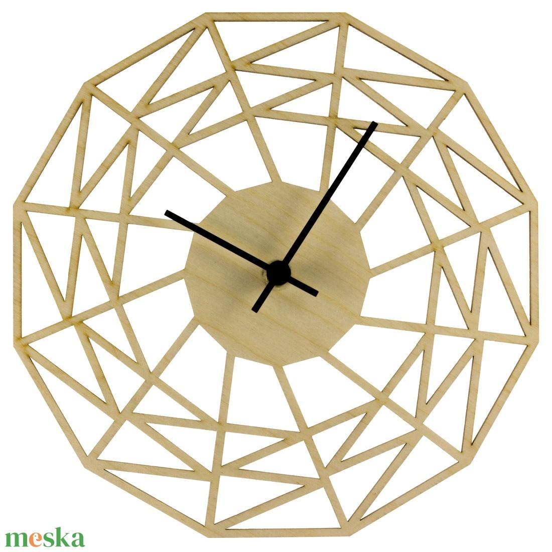 Pókháló óra - Játékos - Vicces falióra - Férfiaknak - Modern - Minimal - Matematika - Háromszögek - Különleges - Meska.hu