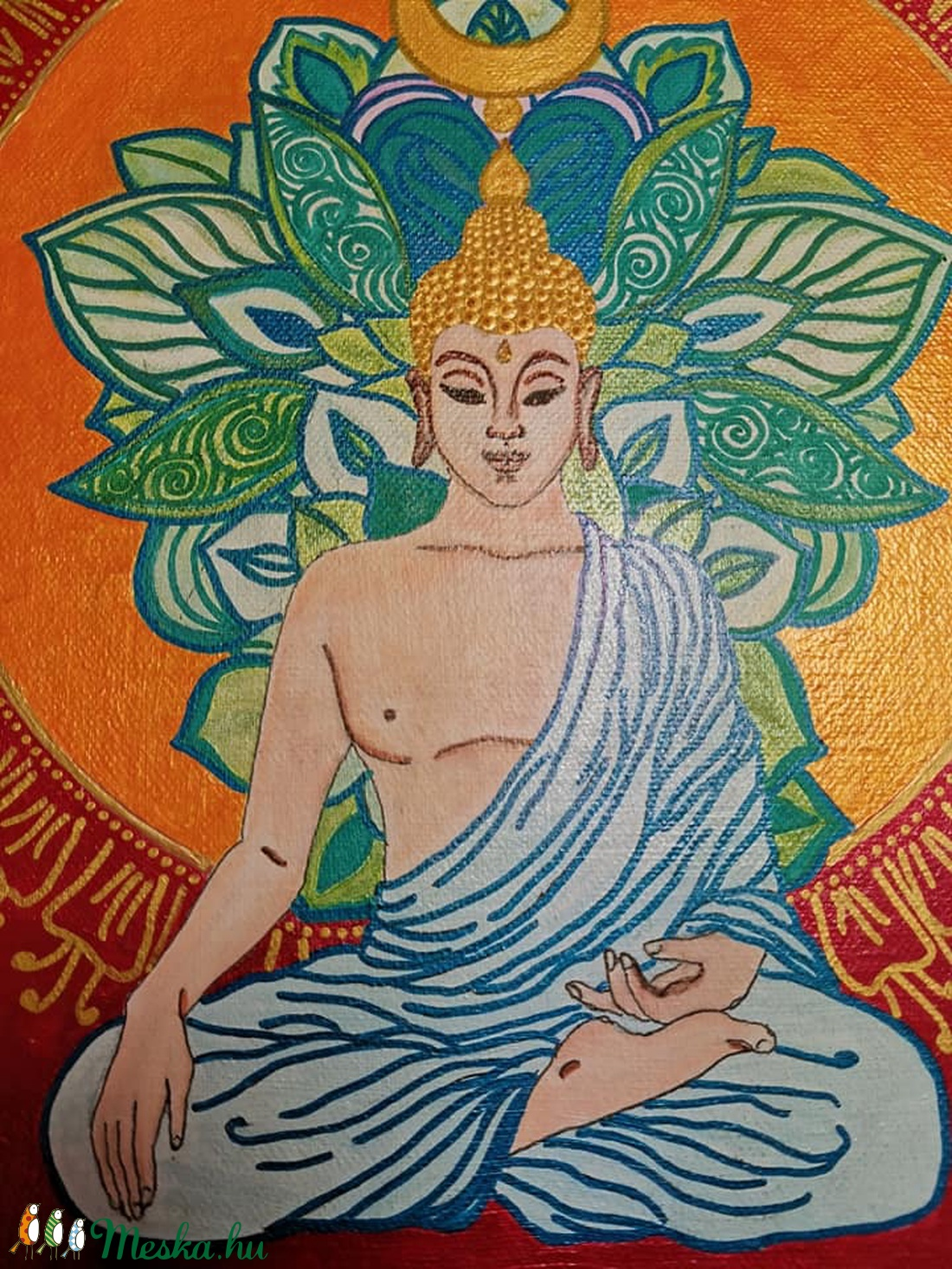 Meditáló Buddha - otthon & lakás - dekoráció - kép & falikép - Meska.hu