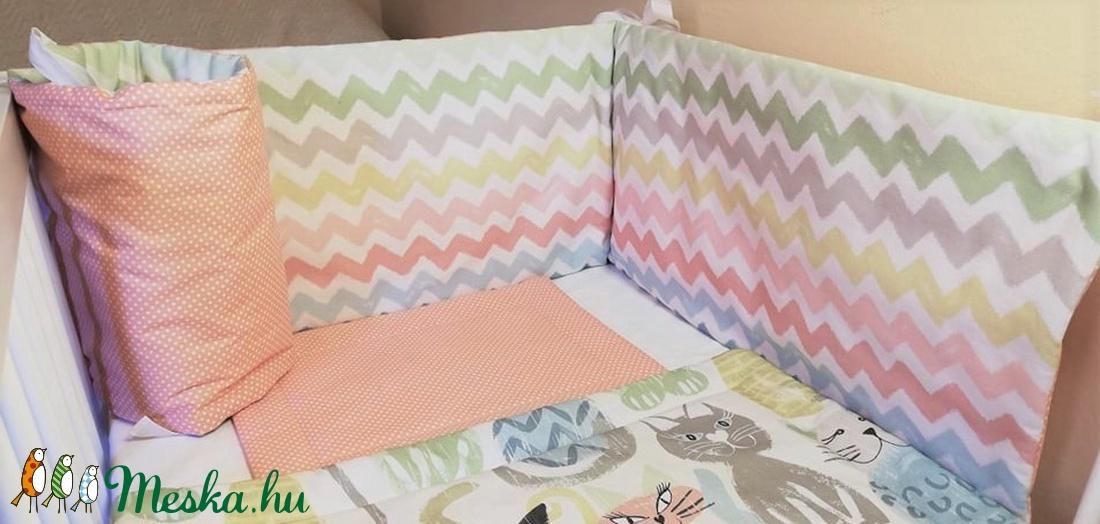 Rácsvédő színes cikk-cakk mintával - otthon & lakás - lakástextil - rácsvédő & baldachin - Meska.hu