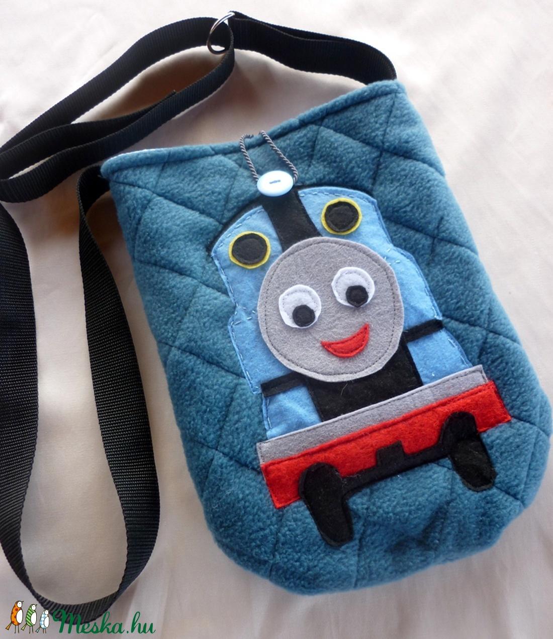 ef63503c0a ... Thomas a gőzmozdony polár táska gyerekeknek (acélkék) (ZoeCollection) -  Meska.hu ...