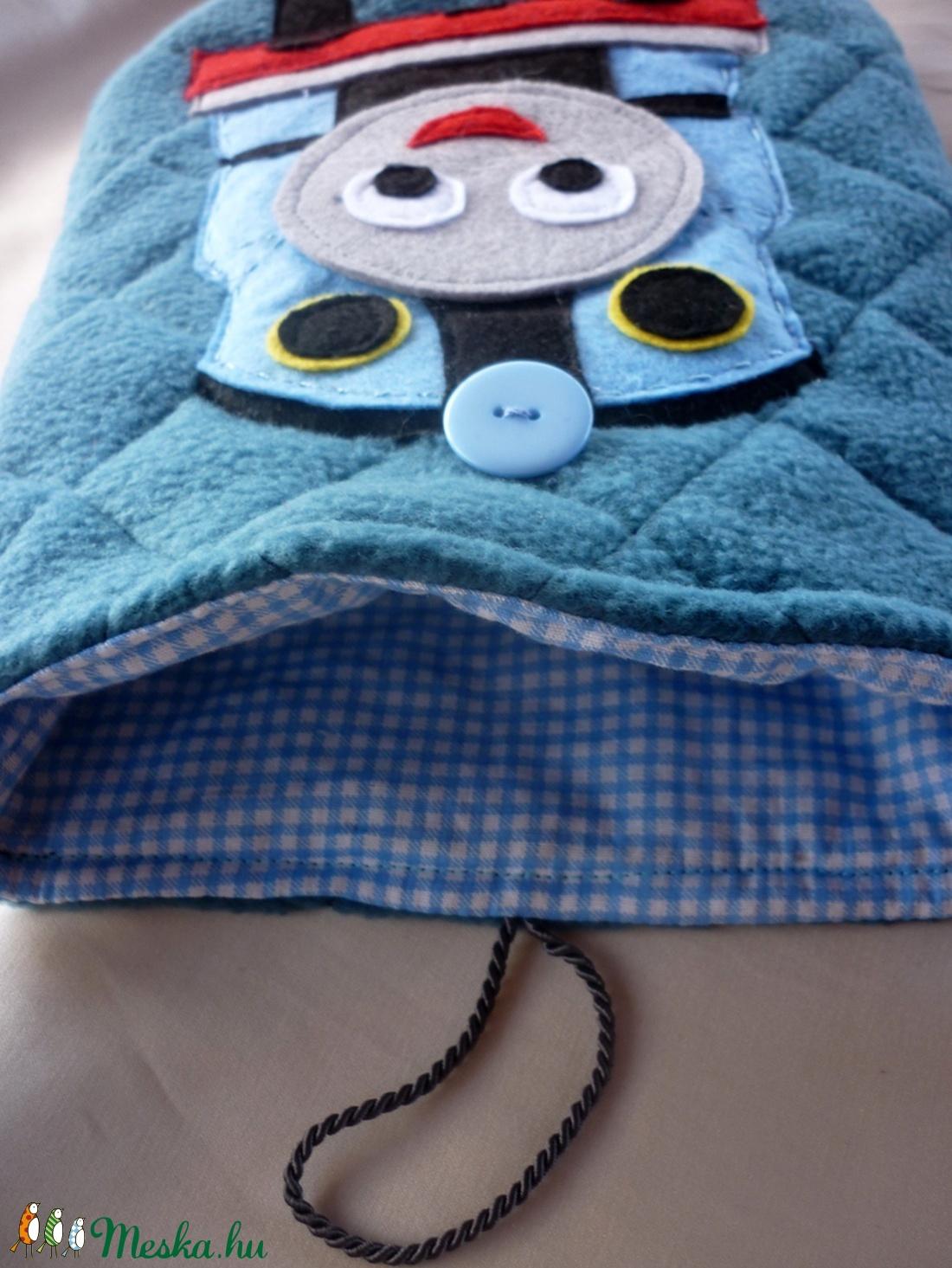 87c276e1dd ... Thomas a gőzmozdony polár táska gyerekeknek (acélkék) (ZoeCollection) -  Meska.hu