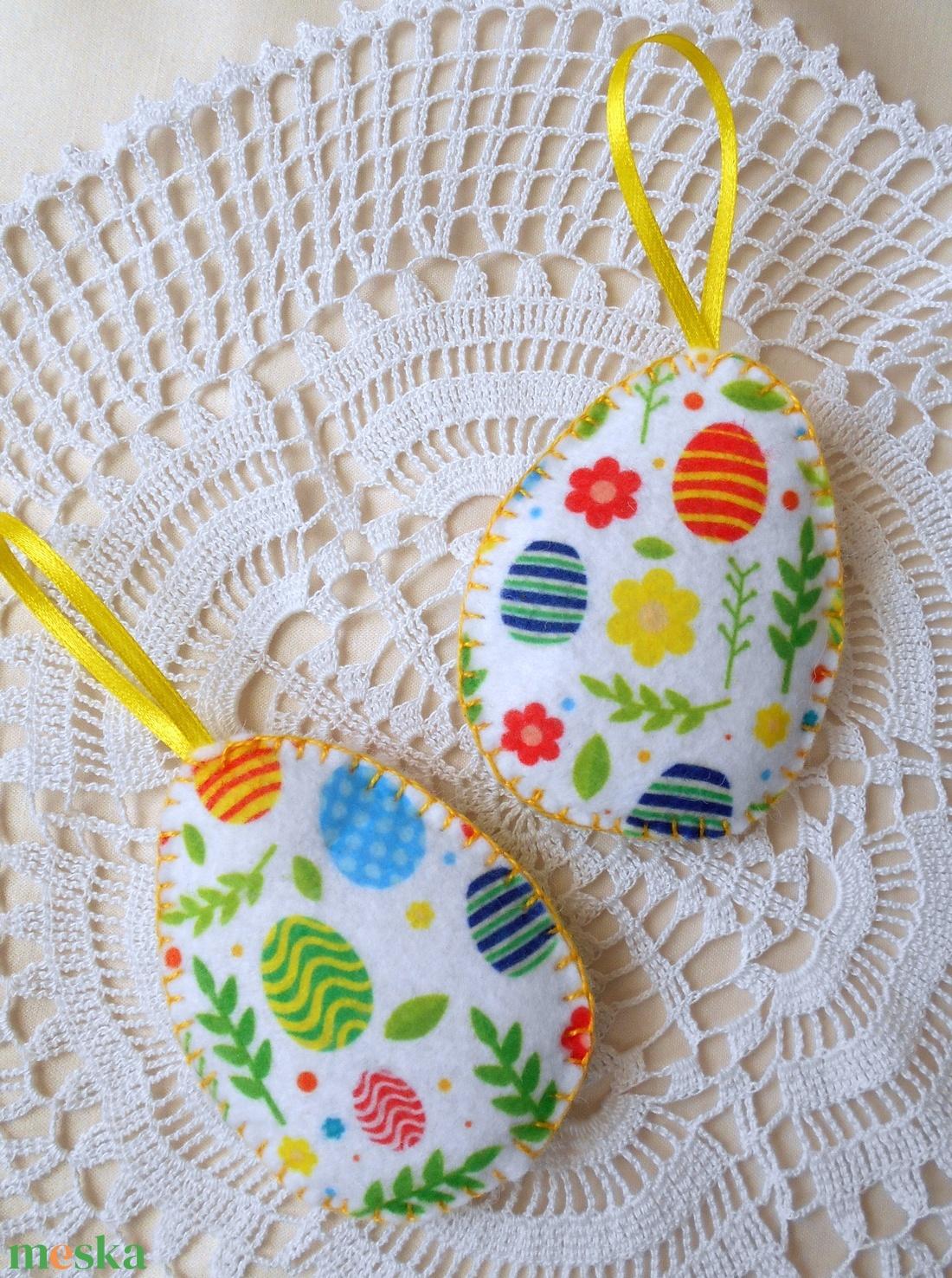 Színes tojás mintás húsvéti tojás szett (2 db) (ZoeCollection) - Meska.hu