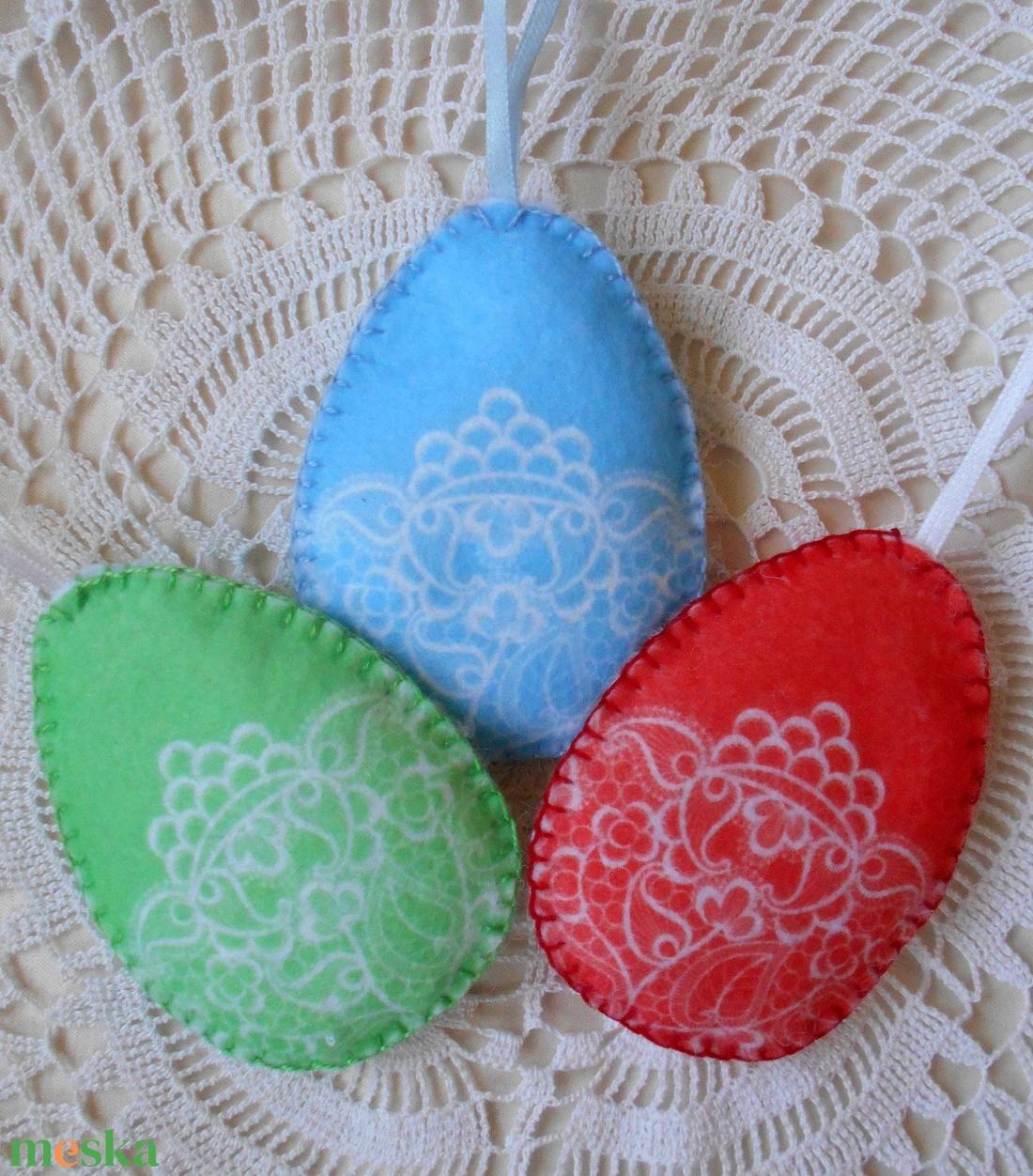 Csipke mintás húsvéti tojás szett (3 db-os) (ZoeCollection) - Meska.hu
