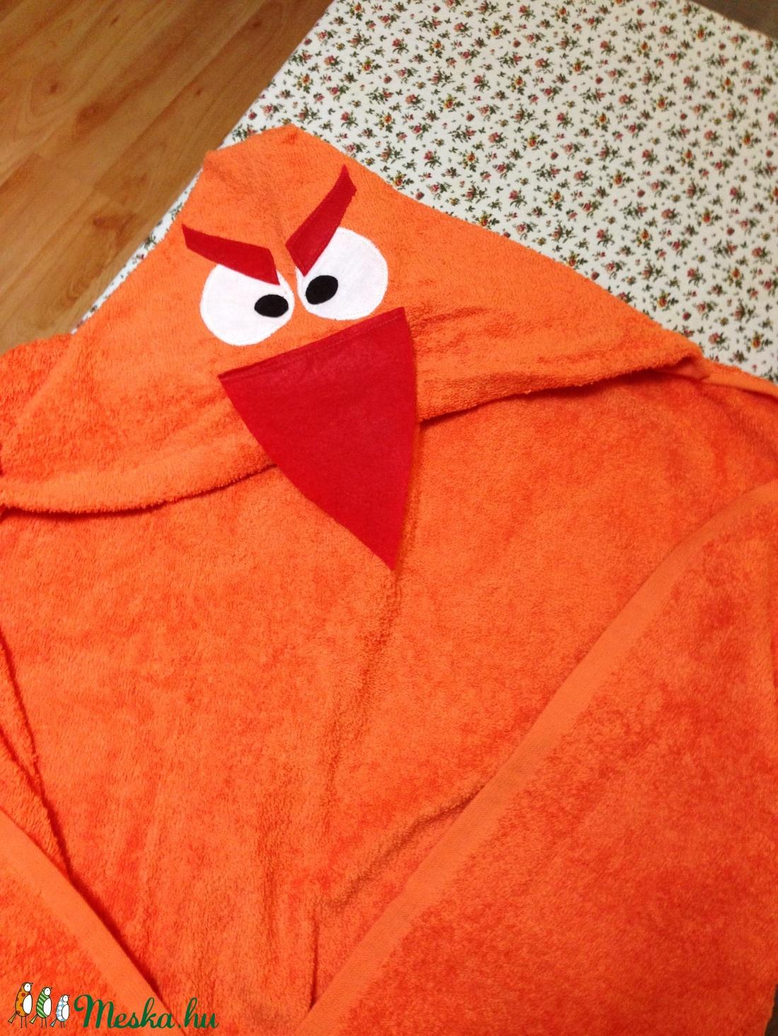 Angry Bird narancssárga kapucnis törülköző kamaszoknak aaf3fe4f47