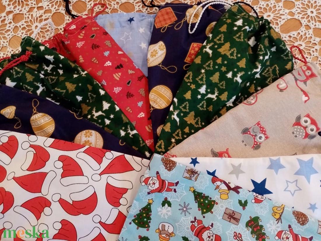 Csizmácska vagy zsákocska  - karácsony - mikulás - mikulás zsák, zokni, csizma - Meska.hu