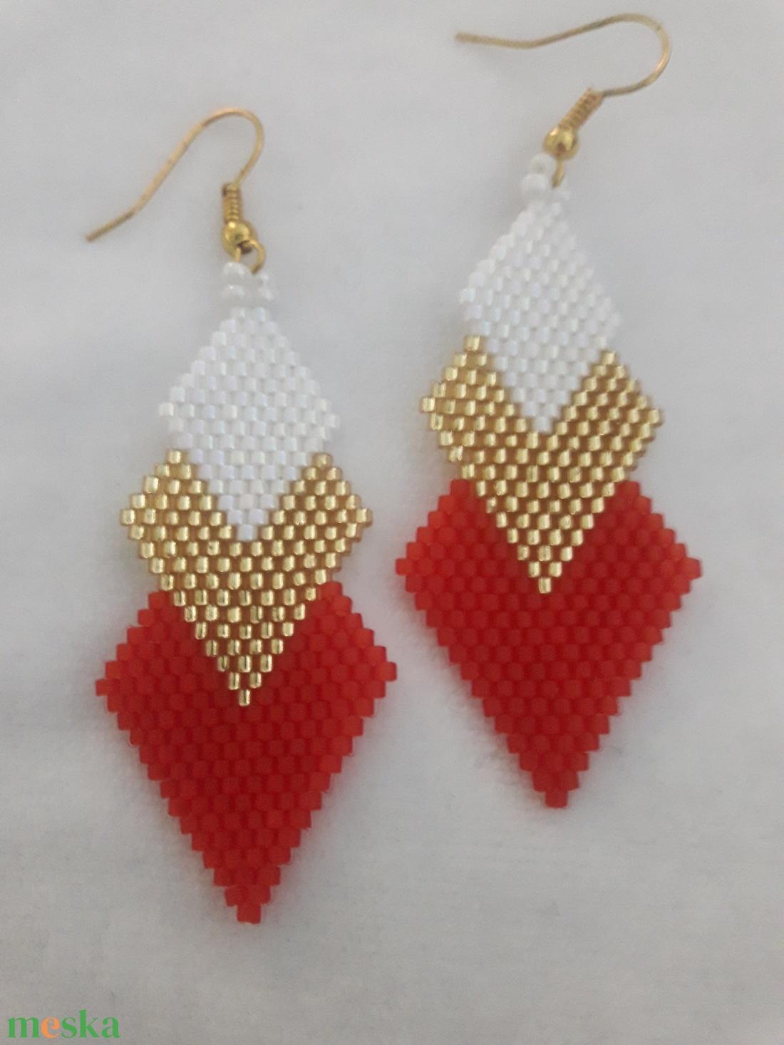 Aki a pirosat szereti fülbevaló - ajándék, születésnap, névnap, évforduló, meglepetés - ékszer - fülbevaló - lógó fülbevaló - Meska.hu