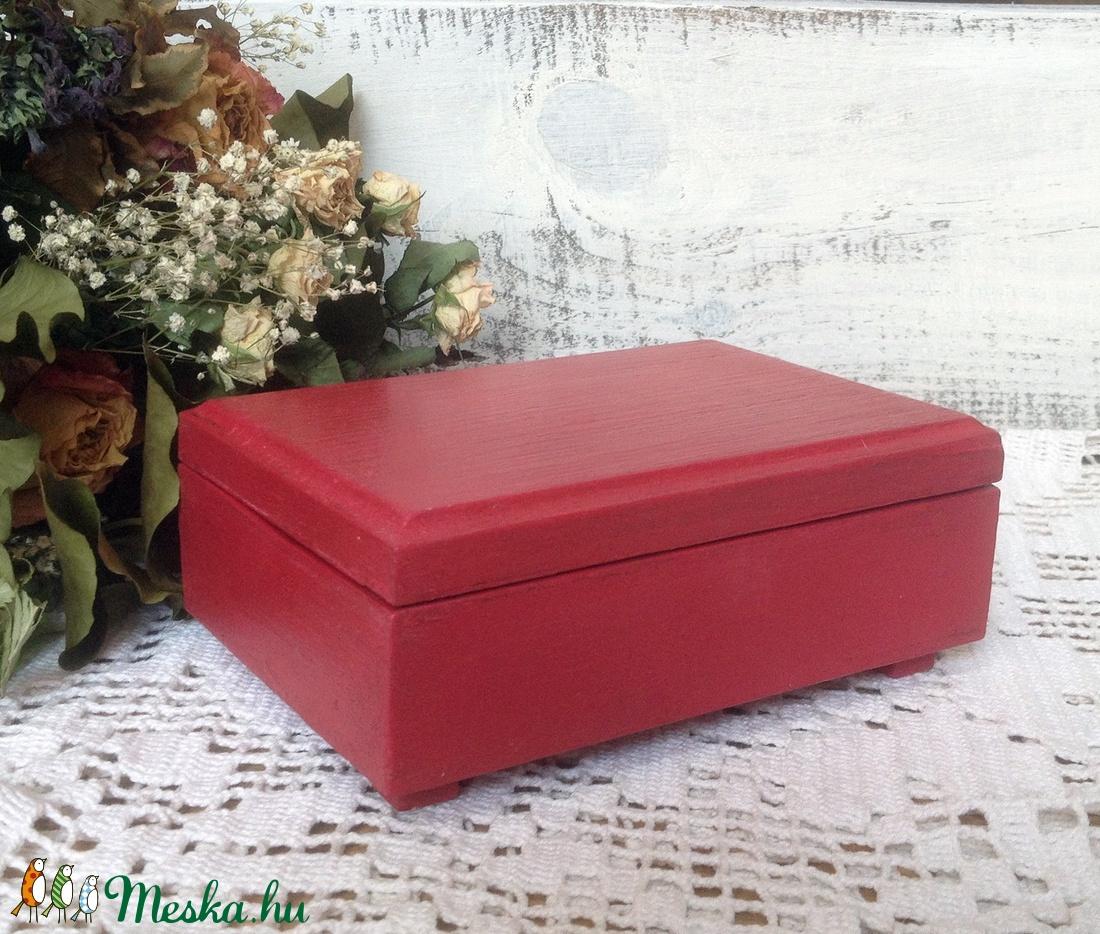 Piros ékszeres dobozka - ékszer - ékszertartó - ékszerdoboz - Meska.hu