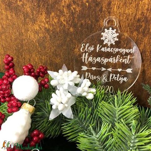 Egyedi karácsonyfadísz - első közös karácsonyunk (3Dfamuves) - Meska.hu