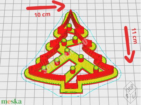 Karácsonyfa süteménykiszúró mézeskalács süteményszaggató 3D nyomtatás keksz kiszúró forma sütikiszúró karácsony dísz (3DPrinting4U) - Meska.hu