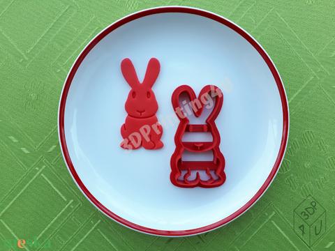 Tapsifüles Nyuszi sütikiszúró süteménykiszúró mézeskalács linzer keksz forma 3D nyomtatás húsvét kiszúró ajándék  (3DPrinting4U) - Meska.hu