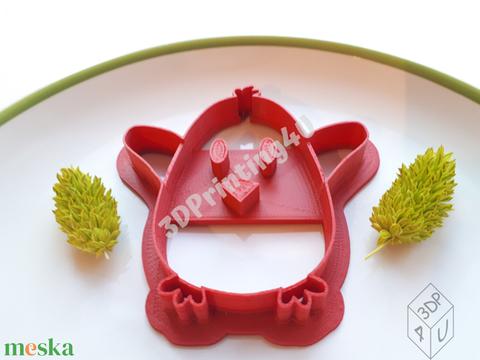Kicsi Csibe sütikiszúró süteménykiszúró keksz linzer mézeskalács 3D nyomtatás süteményszaggató kiszúró húsvét forma (3DPrinting4U) - Meska.hu