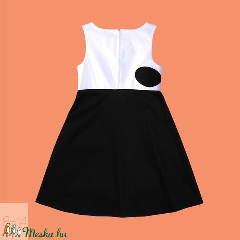 Lányka alkalmi ruha_fehér-fekete_146-os (814GIRL) - Meska.hu