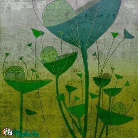 Reggel - zöld kép (schalleszter) - Meska.hu