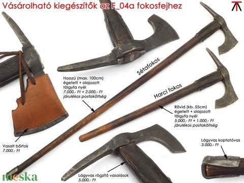 Kovácsolt acél szakállas székely fokos, [F_04a] - Meska.hu