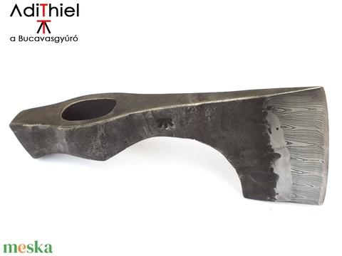 Kovácsolt acél szakállas fokosbalta damaszkolt éllel, [B_01b] (adithiel) - Meska.hu