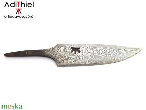 Damaszkolt markolattüskés kés rózsadamaszk pengével, [K_02d] - Meska.hu