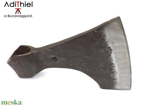 Kovácsolt acél viking szakállas balta damaszkolt éllel, [F_07b] - Meska.hu